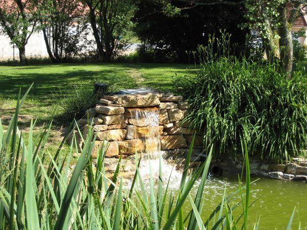 Maçonnerie terrasse bois et pierre à Louhans