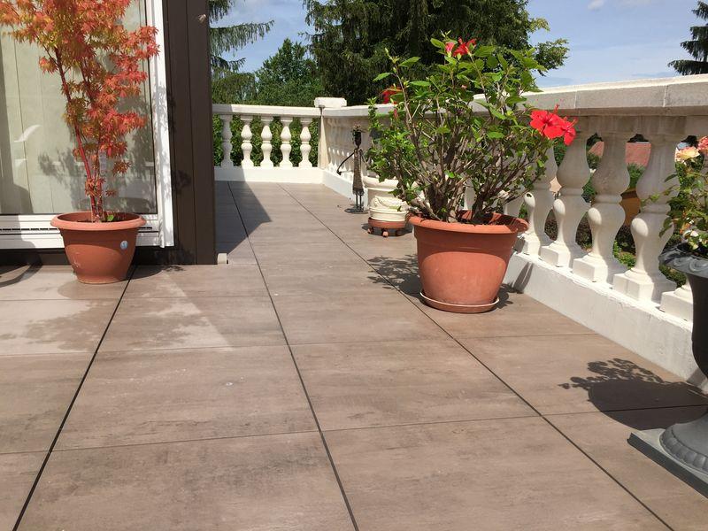 Terrasse en grès cérame Louhans 71